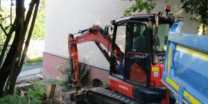 Im alten Seminarhaus starten die Vorbereitungen für den Aus- und Umbau
